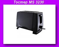Тостер MS 3230 черный,Тостер Domotec,Тостер черный!Опт