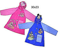 "Дождевик ""Mickey Mouse, Hello Kitty"" CEL-31 (100шт) 2 вида, 2 размера (M,L), с капюшоном"