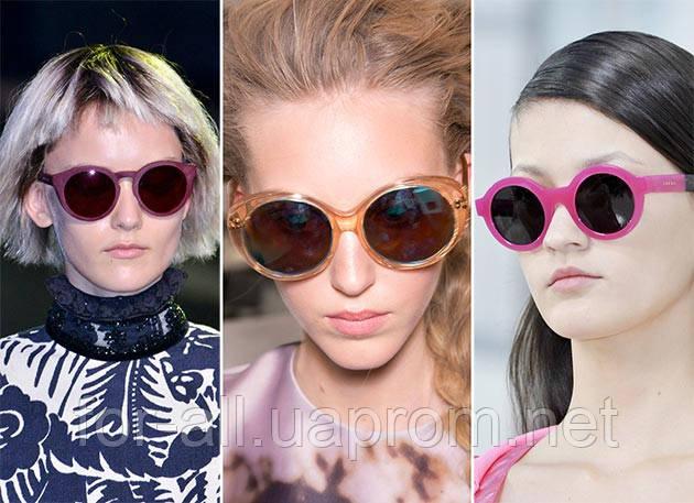 Солнцезащитные очки круглой формы 2014.