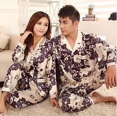 Атласная пижама 10104