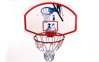 Щит баскетбольный с кольцом и сеткой (щит р-р 90x60см, кольцо (12мм) d-42см)