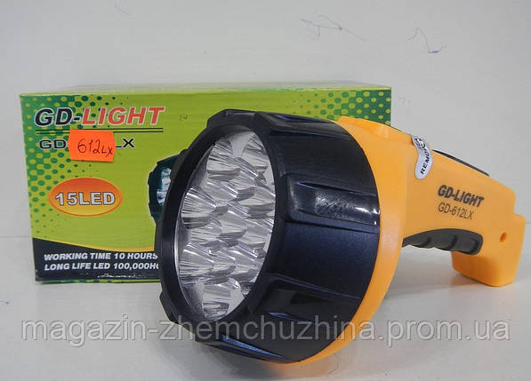Фонарь переносной LEDGDLIGHT GD-612LX 15 LED, фото 2