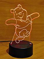 "3D Светильник, 3D Ночник, 3D лампа, ""Мишка"""
