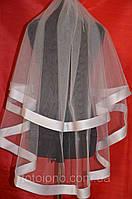 Свадебная фата с широкой лентой sf-013