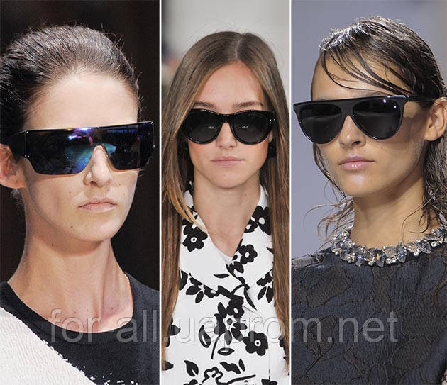 Солнцезащитные очки 2014 черного цвета. Тренд № 6