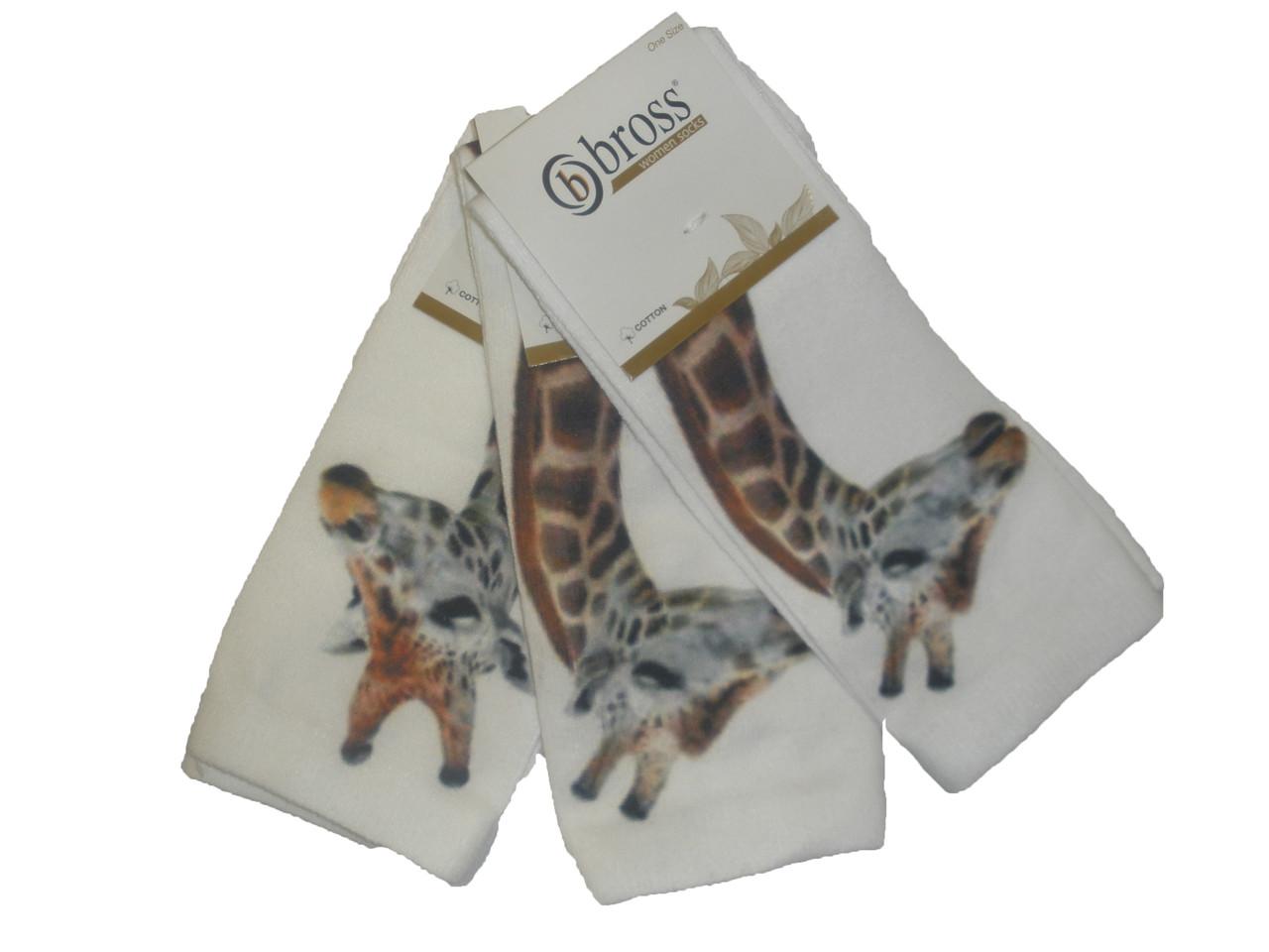 "Носочки женские без пятки  ""жираф"""
