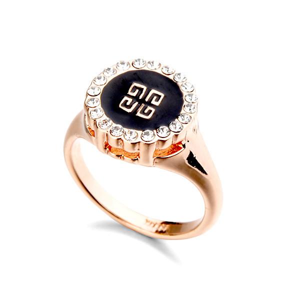 Кольцо Givenchy ювелирная бижутерия золото 18к кристаллы Swarovski