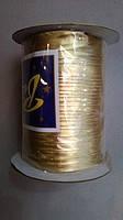 Золотая  косая бейка-парча