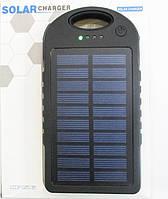 Портативное зарядное устройство Павербанк с солнечной батареей Powerbank Solar 45000 mah LED Black, green