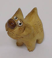 """Кот """"Косой глаз)"""" из глины из глины статуэтка сувенир, фото 1"""