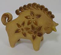 Теленок, бычок из глины статуэтка сувенир, фото 1