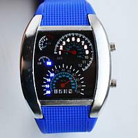 Мужские наручные часы-спидометр/синие