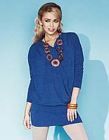 Стильная женская туника голубого цвета из приятной мягкой ткани. Модель Perla Zaps.