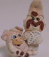 Козак и свинья символ плодородия сувенир, фото 1