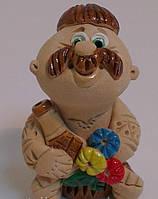 Чоловік з лошкою, сидить на варенику Сувенир статуэтка, фото 1