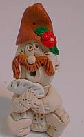 Сувенир Казак с вареникомСтатуэтка из глины
