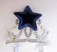 Корона с синей звездой