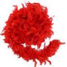 Боа из перьев 40 г (красное)