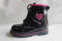 Детские зимние ботинки для девочки лакированые TOM.M