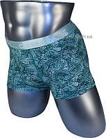 Мужские трусы боксеры / уникальный дизайн / CHANYANOCK / 86123-3 зеленый
