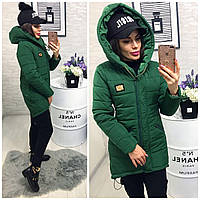 Куртка-парка зимняя, модель  204, зеленый