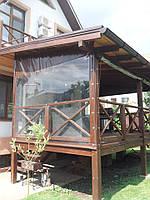 Прозрачные окна ПВХ на террасу