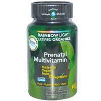 Витамины для беременных, Rainbow Light, Органические, 120 капсул