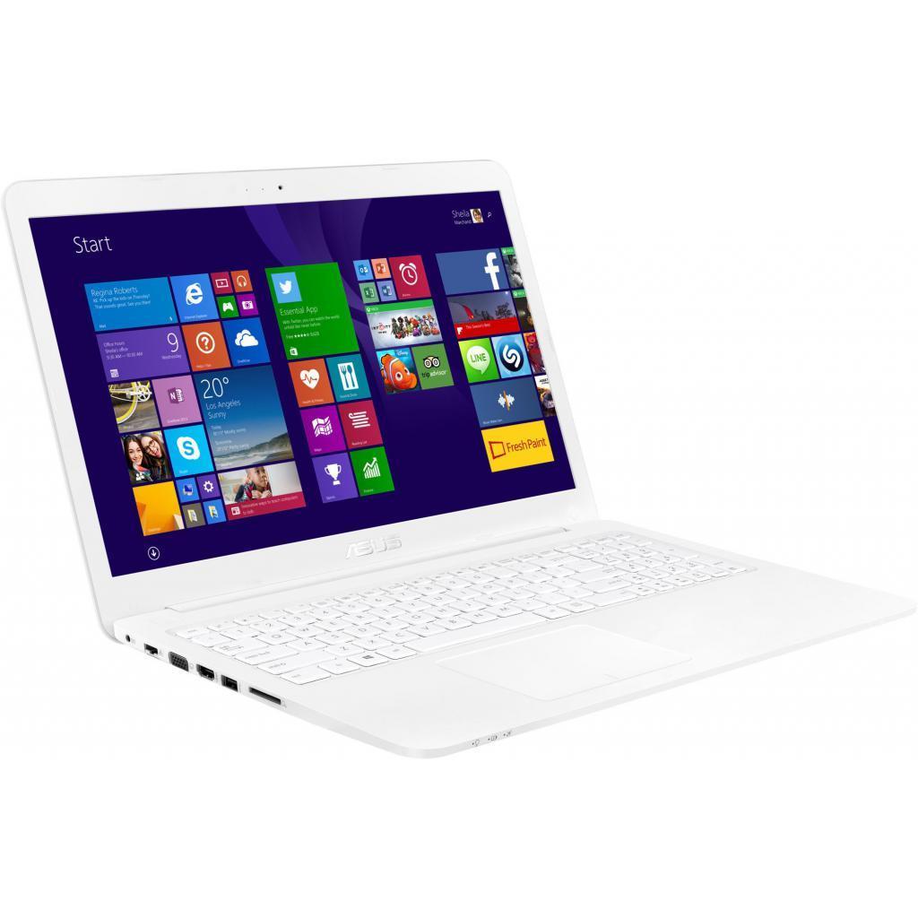 Белый ноутбук Asus E502S