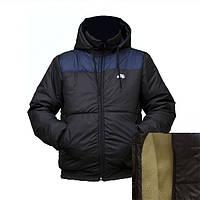 Черная мужская куртка с подкладкой из овчины D11717H