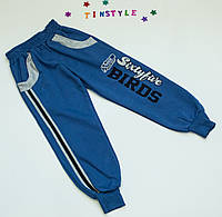 Спортивные теплые  брюки  для мальчика на 5-10 лет