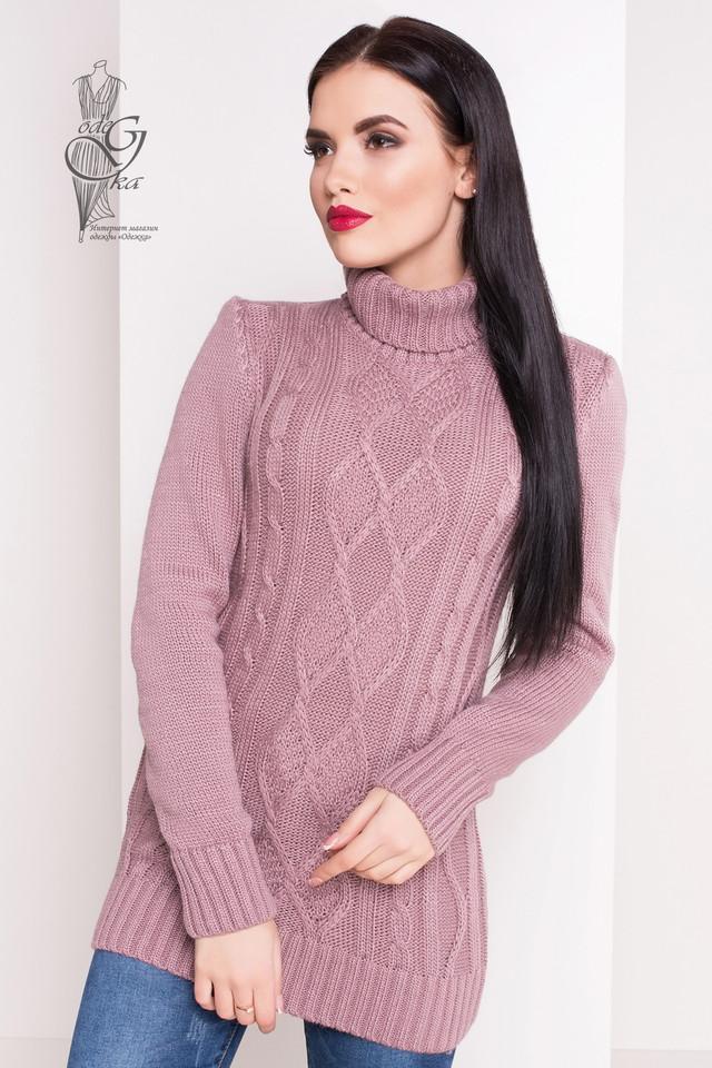 Цвет фрез Женского зимнего свитера теплого Зара