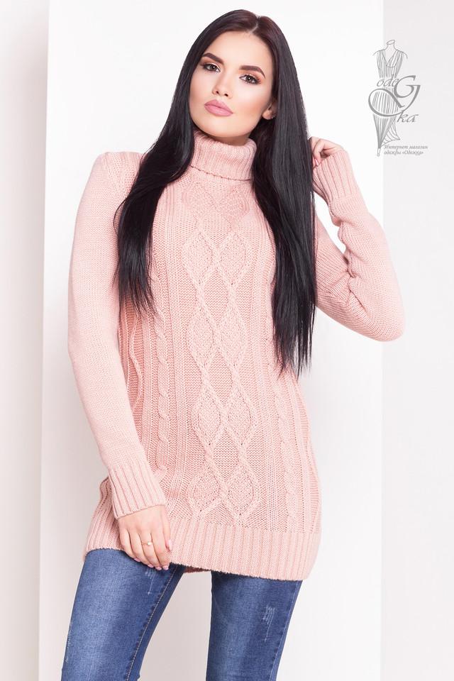 Цвет пудра Женского зимнего свитера теплого Зара