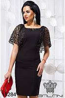 Стильное женское платье с кружевом 42-46, доставка по Украине