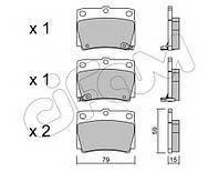 Комплект тормозных колодок, дисковый тормоз 822-484-0