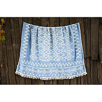 Покрывало Barine - Kilim Throw Blue 130*170 голубой