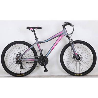 """Подростковый  горный велосипед CROSSER SWEET  24""""  Серый/Розовый"""
