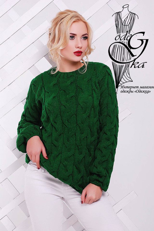 Зеленый цвет Зимних теплых свитеров Роксана