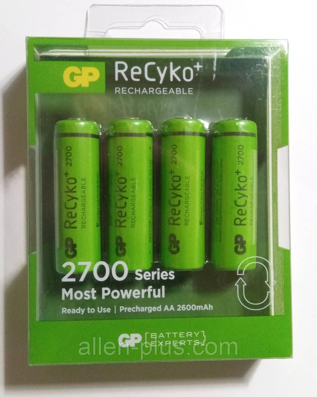 Аккумулятор GP ReCyko+ AА 1.2V 2700mAh Ni-MH