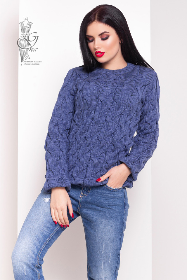 Цвет джинс Зимних теплых свитеров Роксана