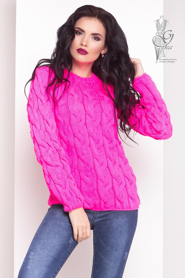 Малиновый цвет Зимних теплых свитеров Роксана