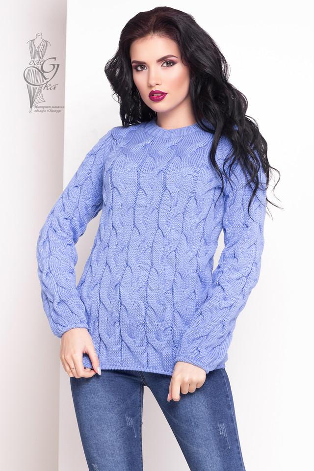 Голубой цвет Зимних теплых свитеров Роксана