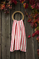 Плед-накидка Barine 77х82 - Stripe Muslin kirmizi красный