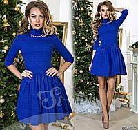 Платье (42-44, 44-46) —жаккард  от компании Discounter.top