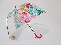 """Детский зонт прозрачный куполообразный 5-10 лет """"Принцессы Disney"""""""