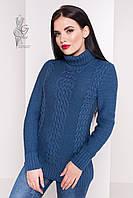 Женский зимний свитер теплый Сара-3 под горло Шерсть-Акрил