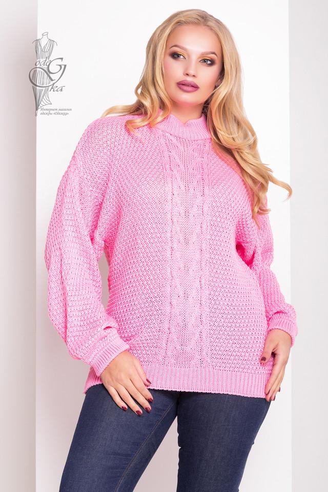 Розовый цвет Зимних теплых свитеров Паффи