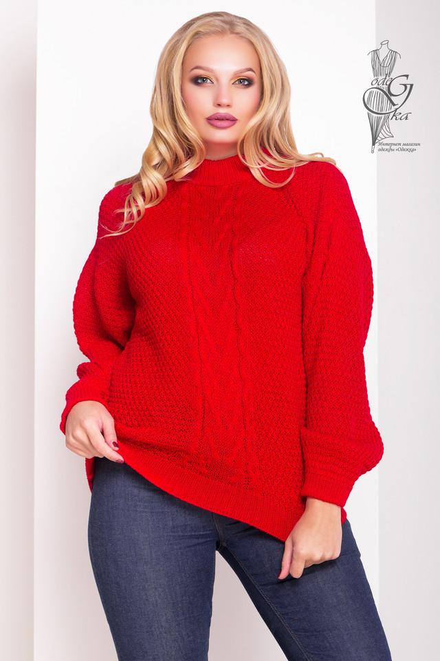 Красный цвет Зимних теплых свитеров Паффи