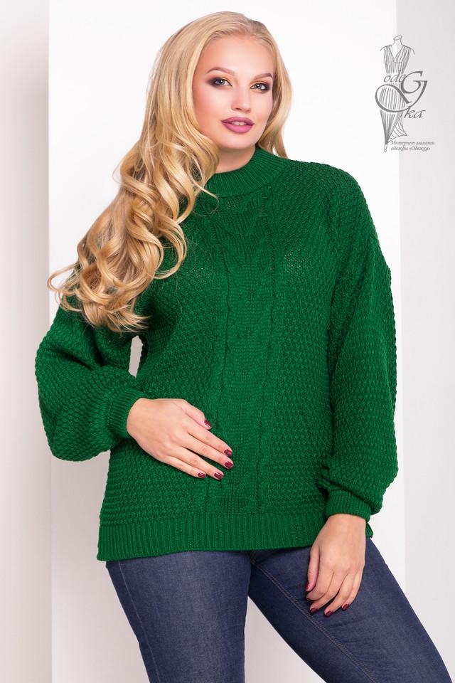 Зеленый цвет Зимних теплых свитеров Паффи