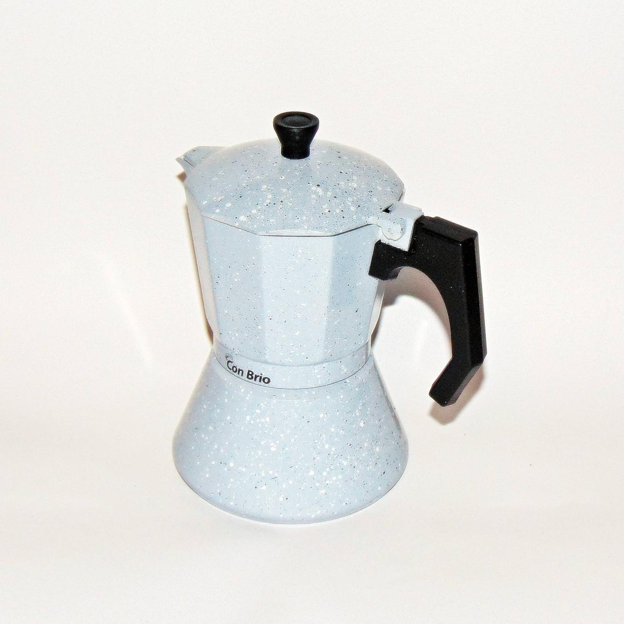 Кофеварка гейзерная алюминиевая  на 6 чашек индукция