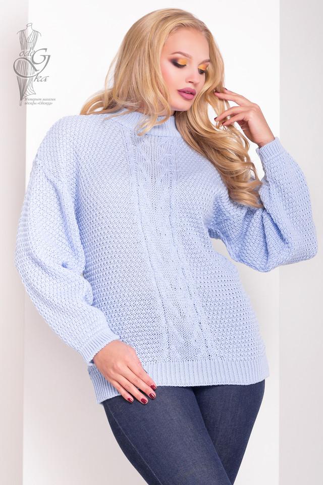 Голубой цвет Зимних теплых свитеров Паффи